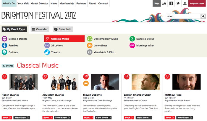 Brighton Festival 2012 Website 6