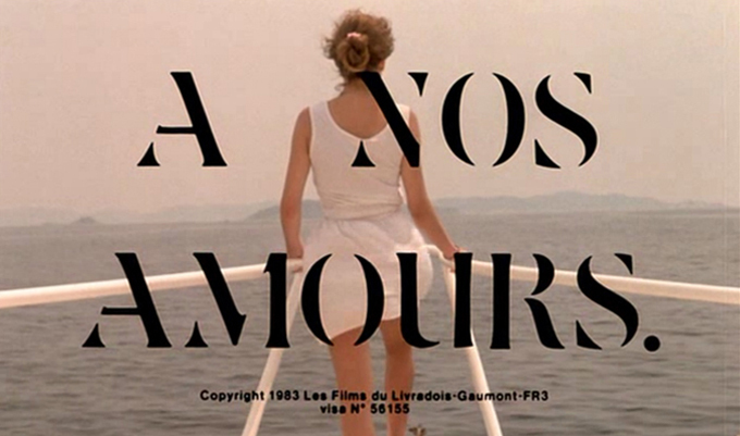 A Nos Amours main title