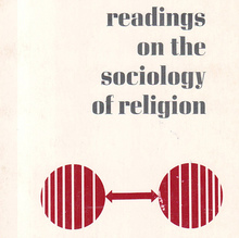 """readings on the sociology of religion"" book jacket"
