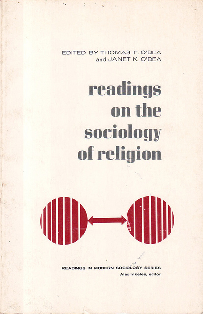 """""""readings on the sociology of religion"""" book jacket"""