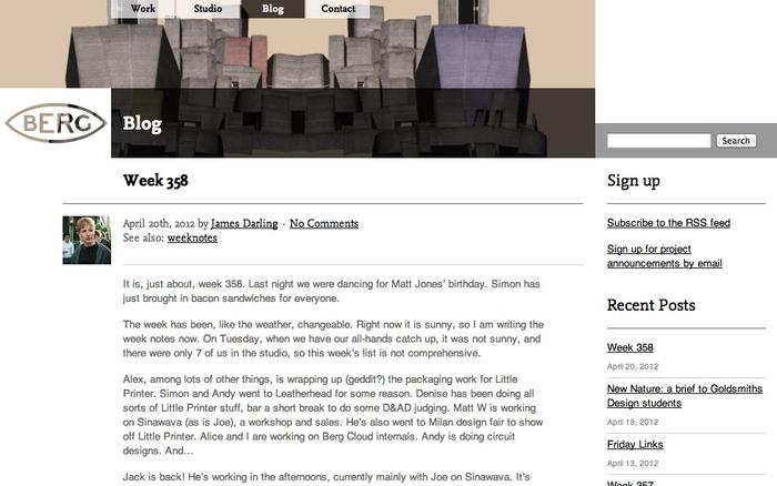BERG website 3