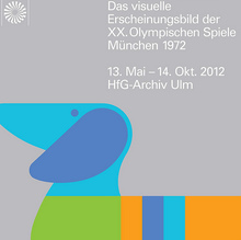 Poster for Exhibition about the Corporate Design Olympic Games Munich