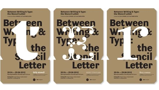 Exhibition Between Writing & Type 1