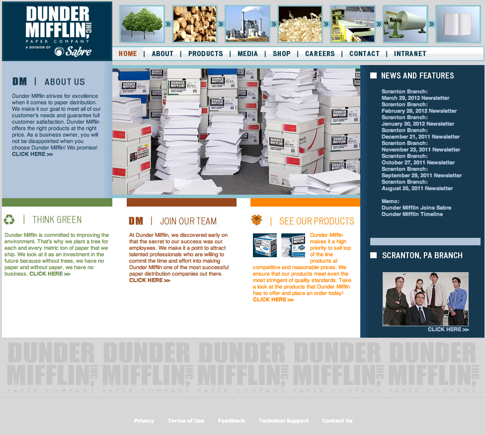 Dunder Mifflin Paper Company - Fonts In Use