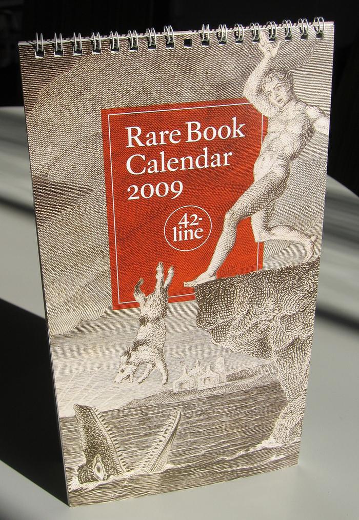 42-line 2009 Rare Book Calendar 2