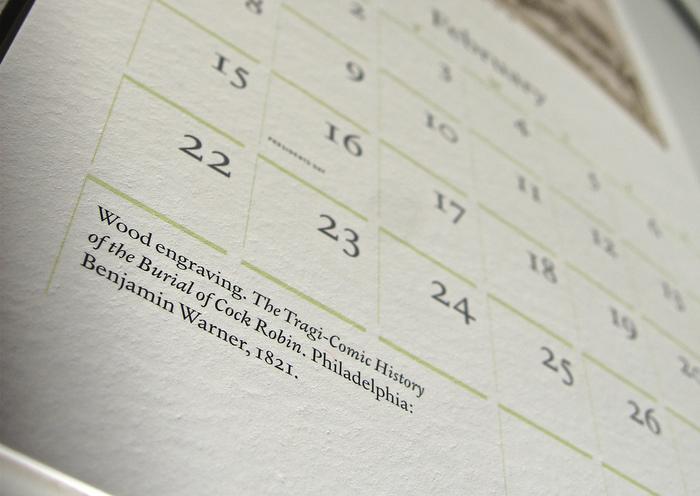 42-line 2009 Rare Book Calendar 3