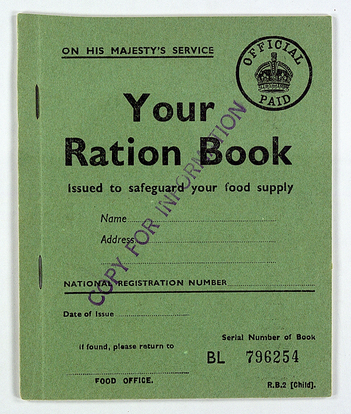 World War II British Ration Book