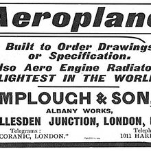 Lamplough & Son, Ltd. Aeroplanes ad