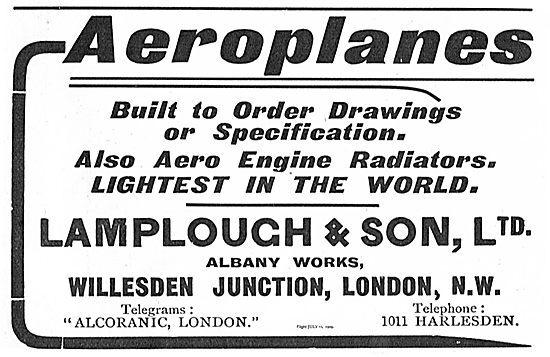 Lamplough & Son, Ltd. Aeroplanes ad
