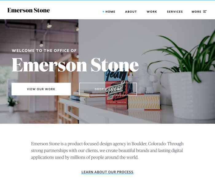 Emerson Stone website 1