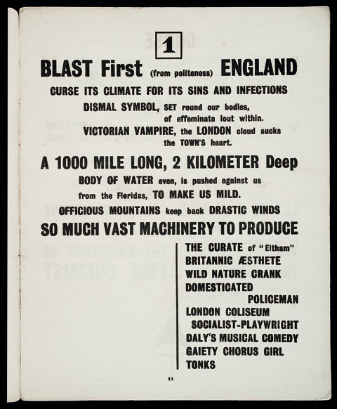 BLAST: Review of the Great English Vortex No.1, by Wyndham Lewis (ed.) 3