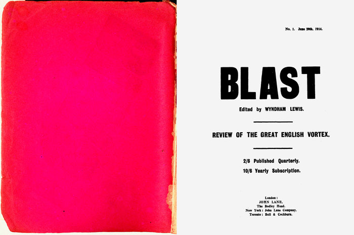 BLAST: Review of the Great English Vortex No.1, by Wyndham Lewis (ed.) 2