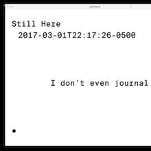 <cite>Still Here</cite>