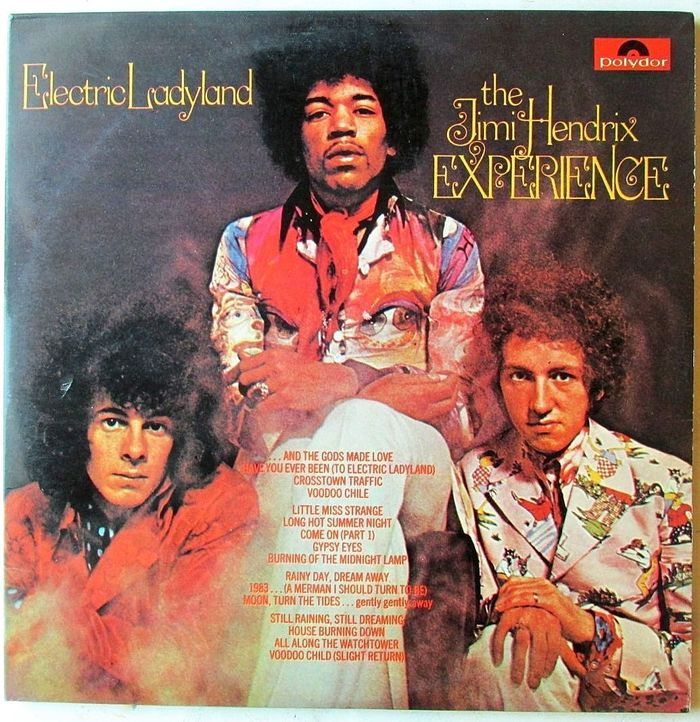 The Jimi Hendrix Experience  – Electric Ladyland (Polydor) album art 1
