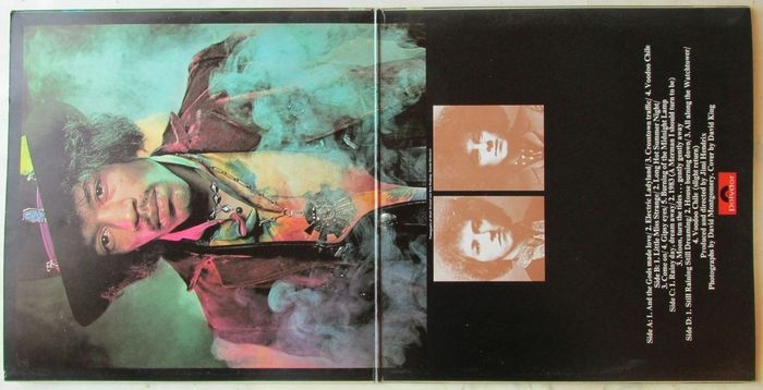 The Jimi Hendrix Experience  – Electric Ladyland (Polydor) album art 2