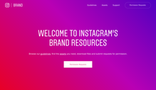 Instagram corporate identity and Stories feature