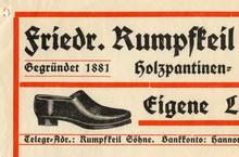 Friedrich Rumpfkeil & Söhne invoice, 1919