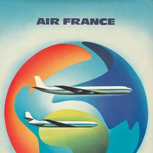 Air France poster: <cite>Caravelle & Boeing</cite>