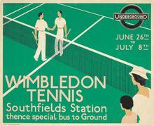 London Underground poster: <cite>Wimbledon Tennis</cite>