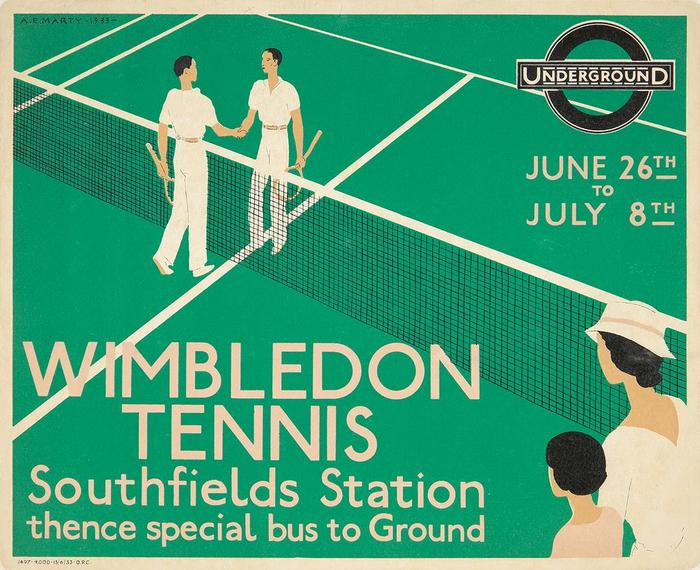 London Underground poster: Wimbledon Tennis