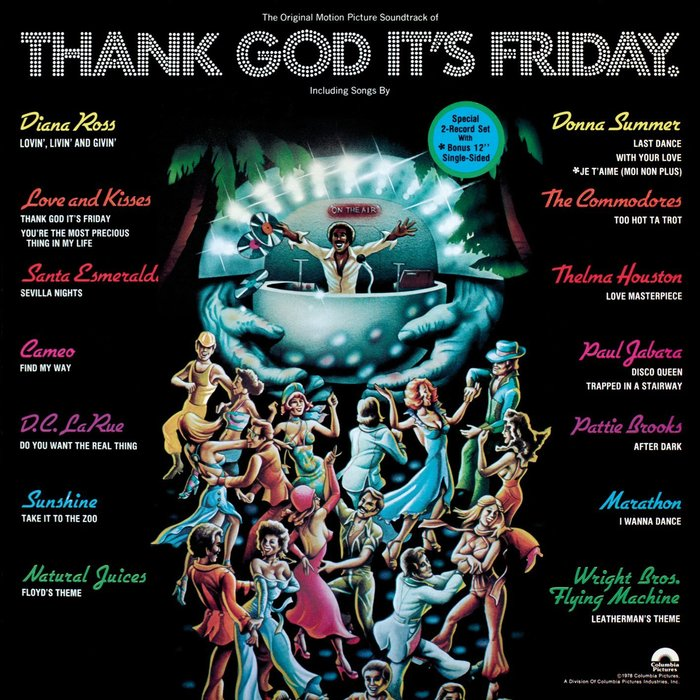 Record cover of the original motion picture soundtrack. The film music is by Giorgio Moroder.