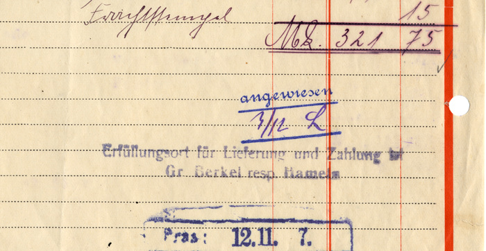 Friedrich Rumpfkeil & Söhne invoice, 1919 3