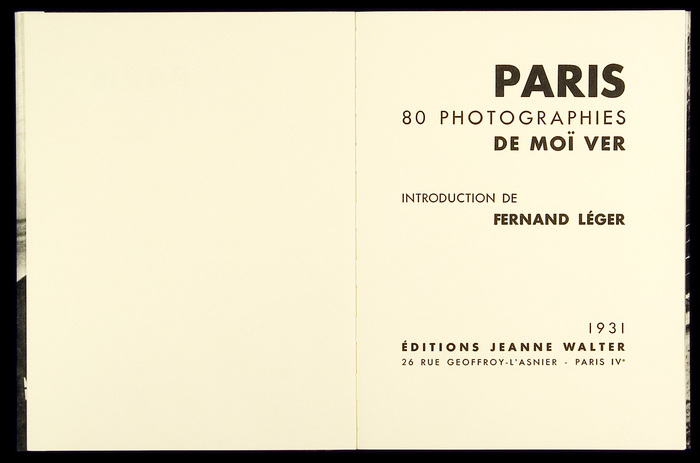 Facsimile edition published in 2002 by Éditions 7L.