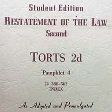 <cite>Restatement of the Law</cite>