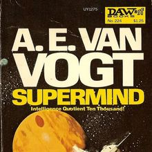 <cite>Supermind</cite> by A. E. van Vogt (1977 DAW Edition)