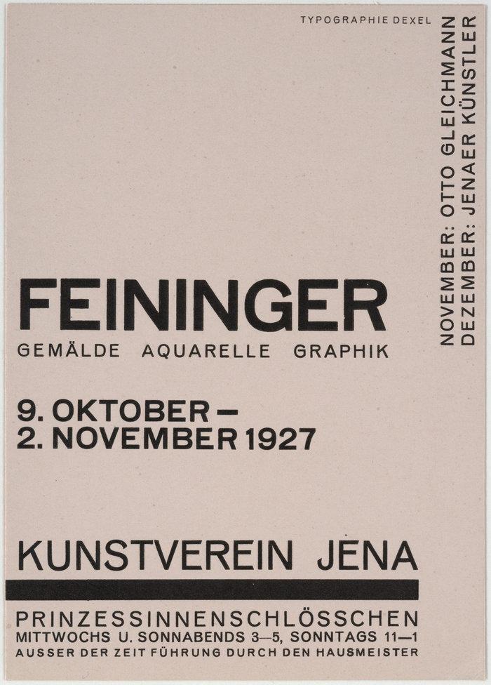 1927: Lyonel Feininger