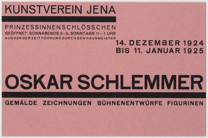 1924: Oskar Schlemmer