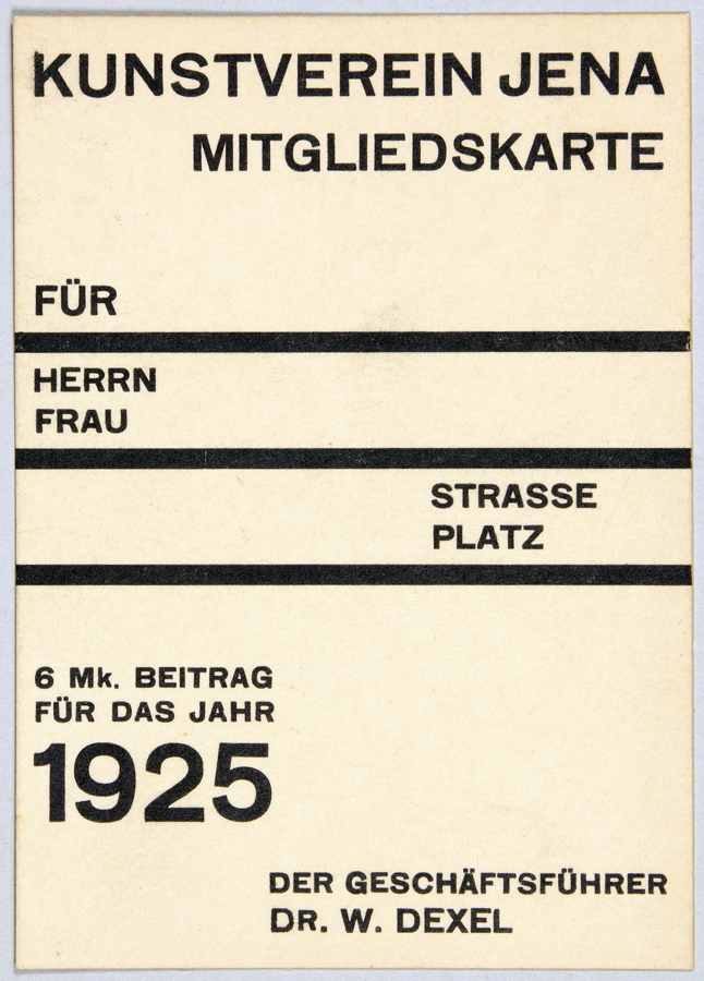 "One-color version of the previous design with the program for fall 1925, feat. Johannes Auerbach, August Macke, and Georg Kötschau. ""HERBST 1925"" is set in the breit weight of Koralle."