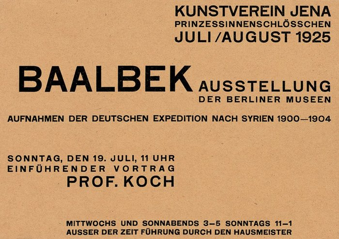 Kunstverein Jena exhibition handbills (1924–27) 6