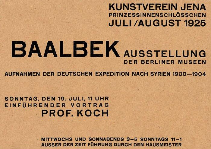 Kunstverein Jena exhibition handbills (1924–27) 6