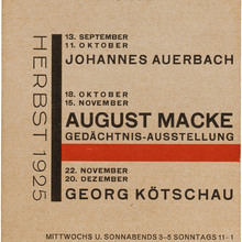 Kunstverein Jena exhibition handbills (1924–27)