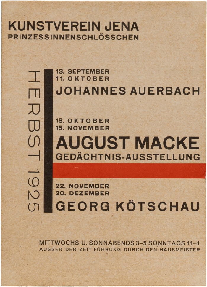 Kunstverein Jena exhibition handbills (1924–27) 1