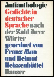 <cite>Antianthologie. Gedichte in deutscher Sprache nach der Zahl ihrer Wörter </cite>