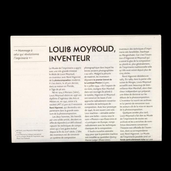 La Lettre du Musée nº16, Octobre 2010 2