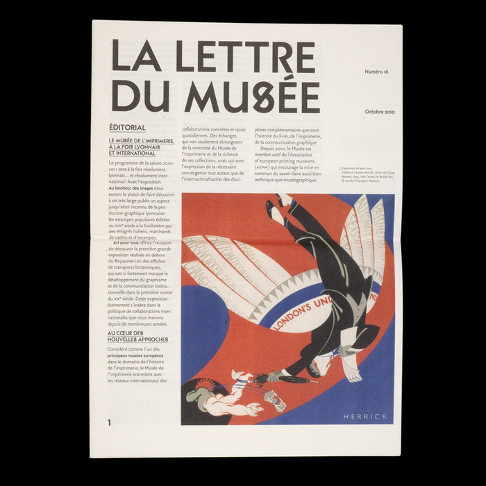 La Lettre du Musée nº16, Octobre 2010 1