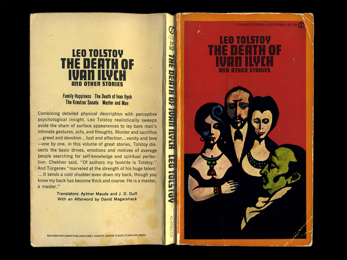 The Death of Ivan Ilych by Leo Tolstoy, book cover 1
