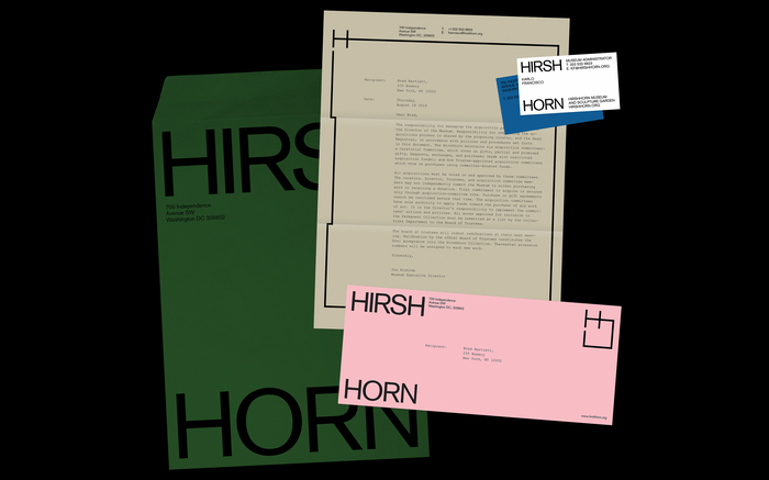 Hirshhorn Museum and Sculpture Garden identity (fictional) 3