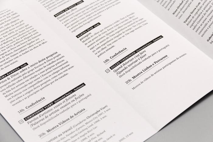 Programme, detail.