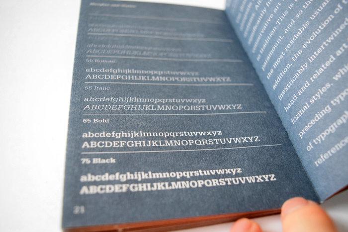 Serifa type specimen book 5