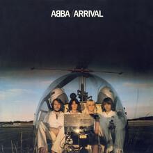 ABBA logo, <cite>Arrival</cite> album art and single covers (1976–1982)