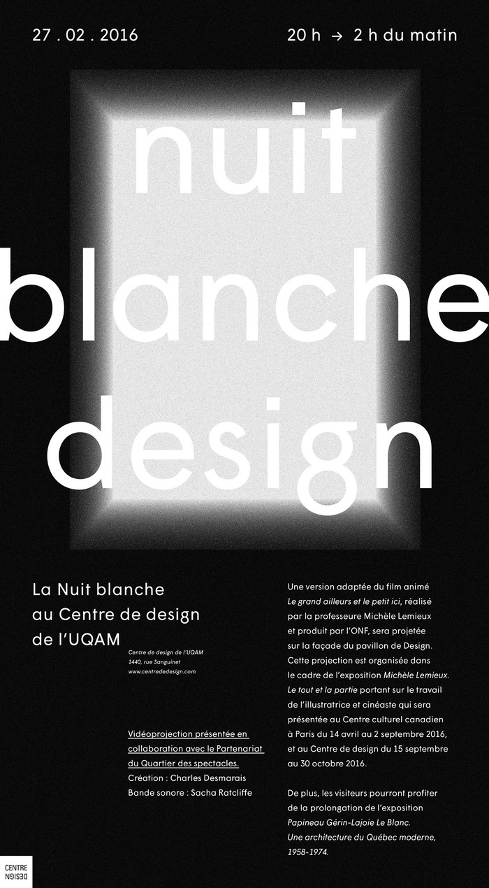 Nuit blanche design