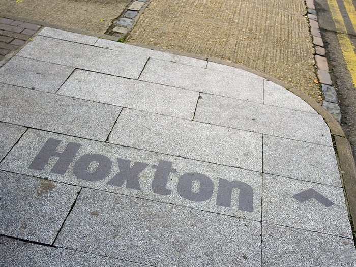 Hoxton / South Shoreditch pavement signs 2