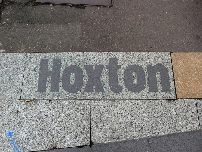 Hoxton / South Shoreditch pavement signs 3