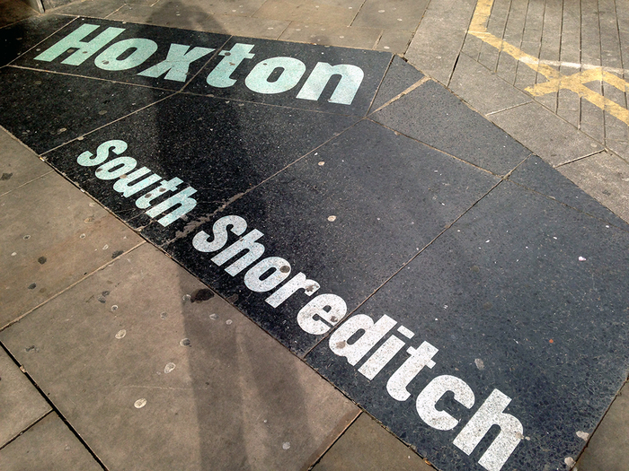 Hoxton / South Shoreditch pavement signs 4