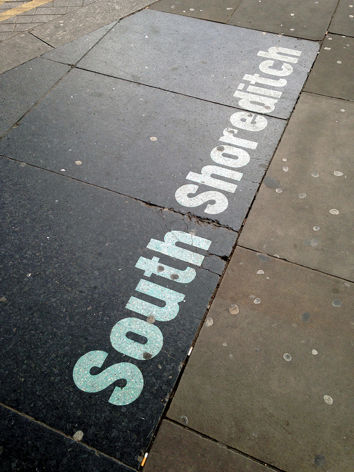 Hoxton / South Shoreditch pavement signs 5