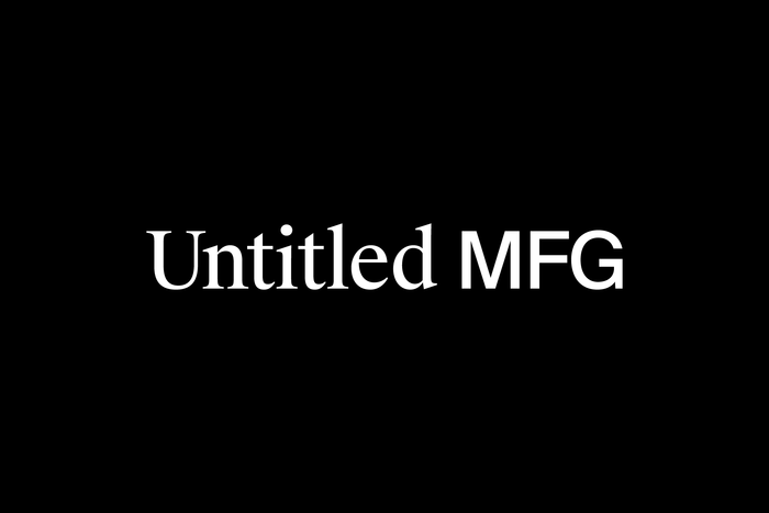Identity for clothing manufacturer Untitled MFG 1